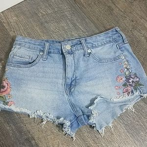 Mossimo Embroidered High Rise Shorts